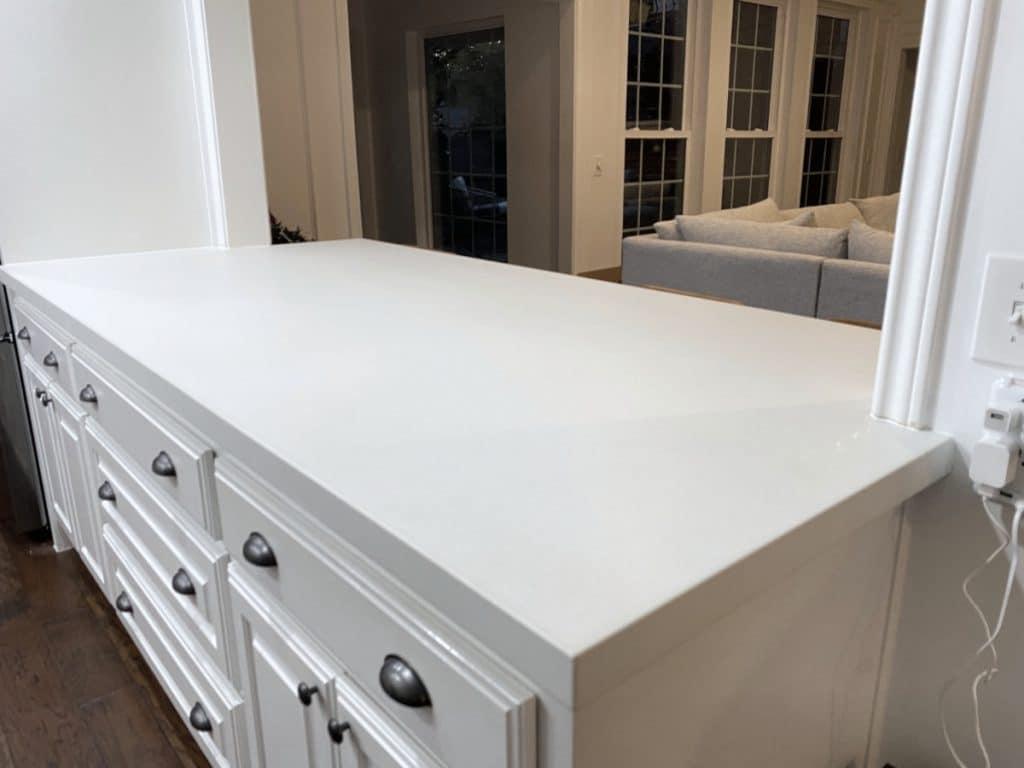 White Concrete Countertops in Dallas Tx