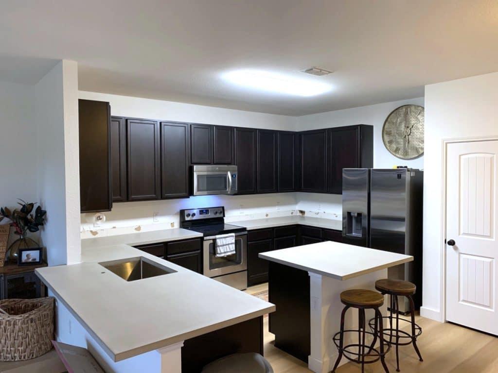 Light Grey Concrete Kitchen Countertops