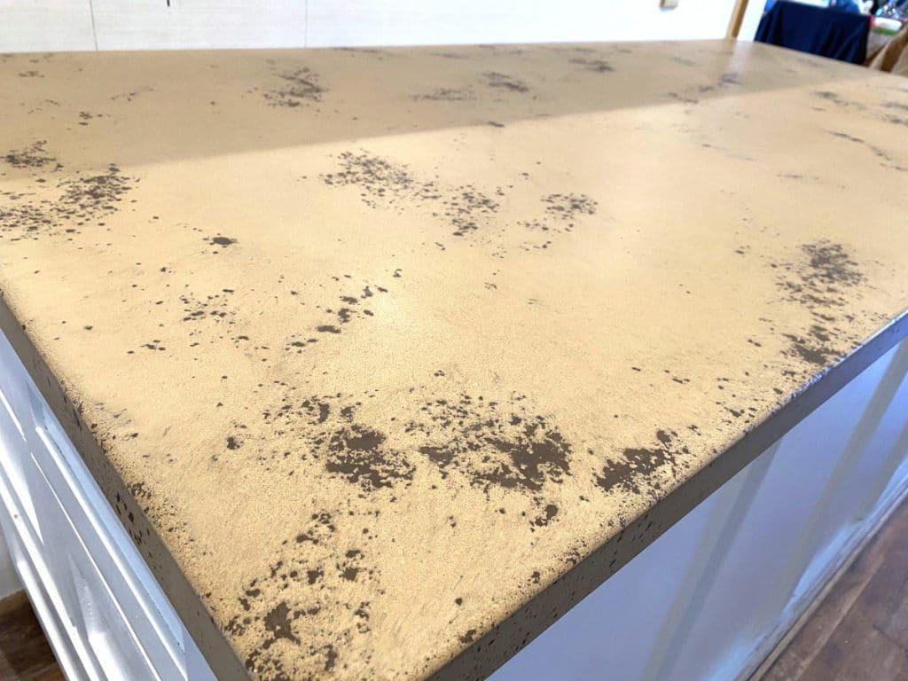 Tan and Brown Concrete Kitchen Countertops