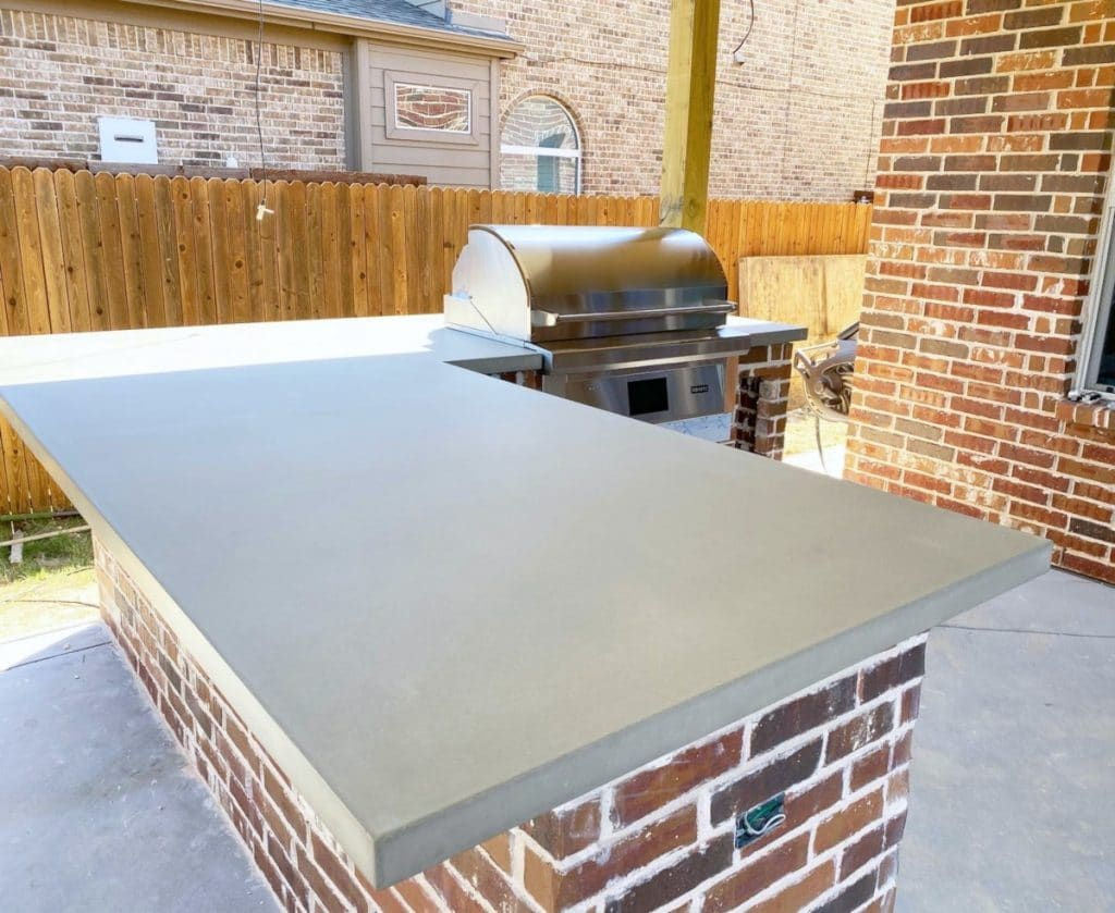 Large Concrete Countertop for a Custom Outdoor Kitchen