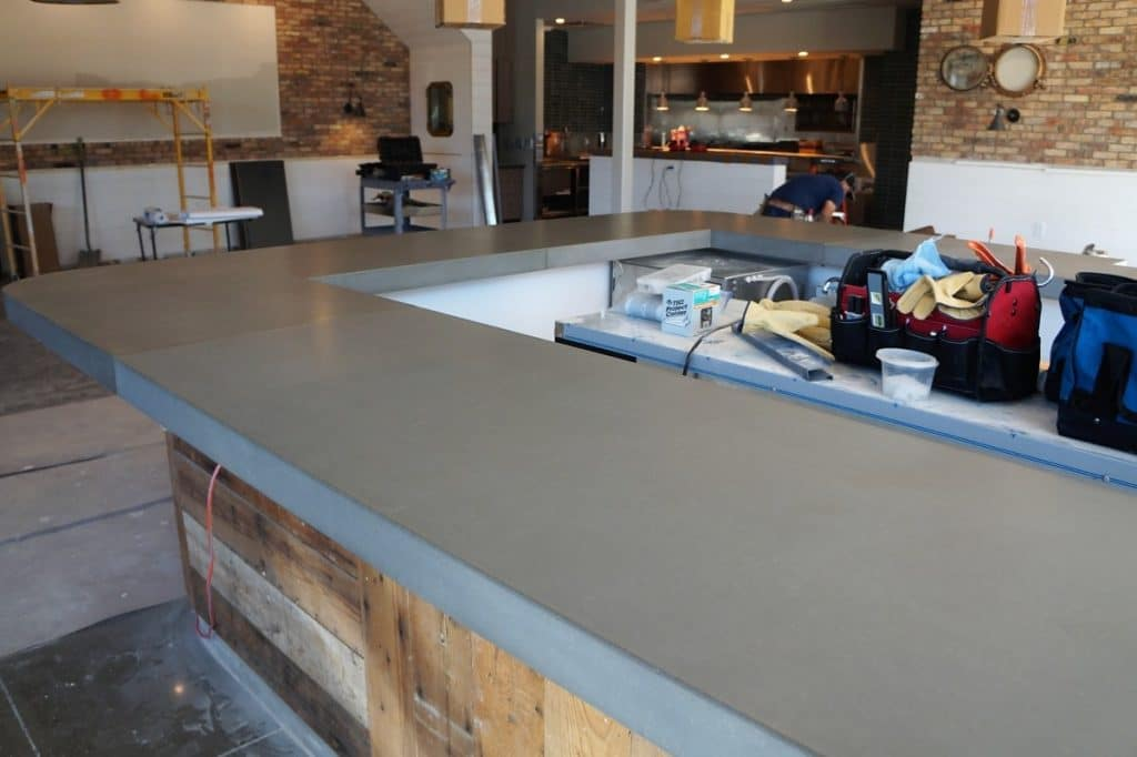 Concrete Bar Top for Fish City Grill in Dallas, Tx