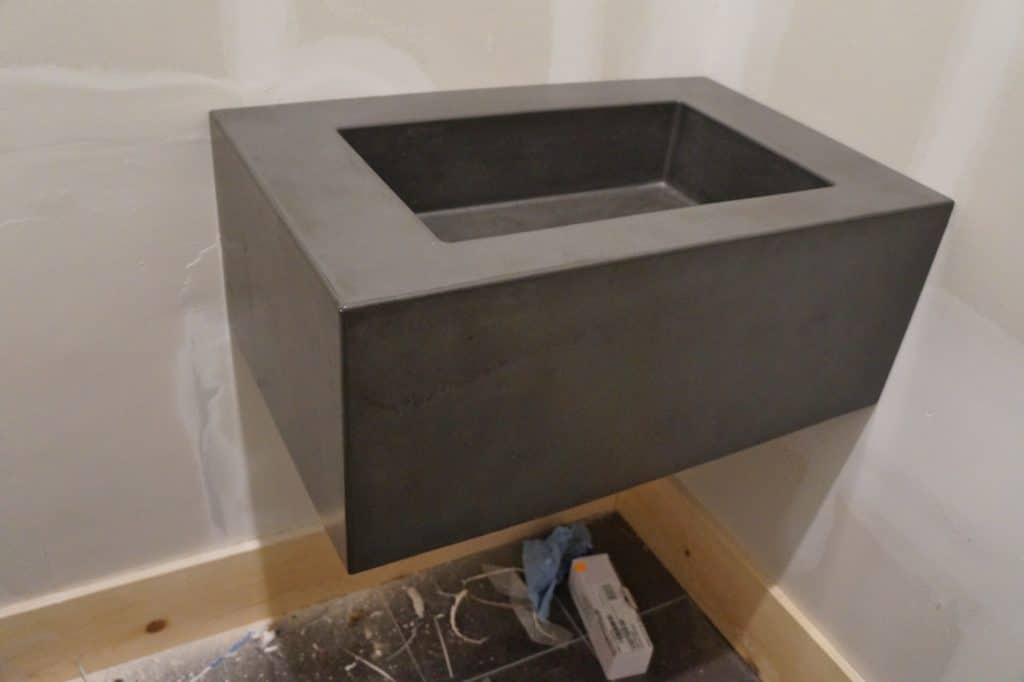 Thick Concrete Floating Vanity