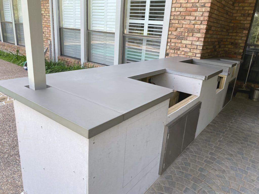 Concrete Countertops for a Large Outdoor Kitchen