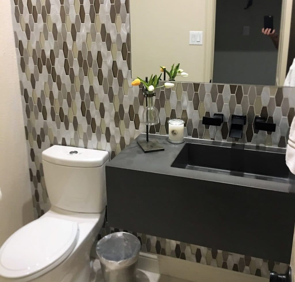 We love getting updated pictures of our concrete sinks and countertops from clients!