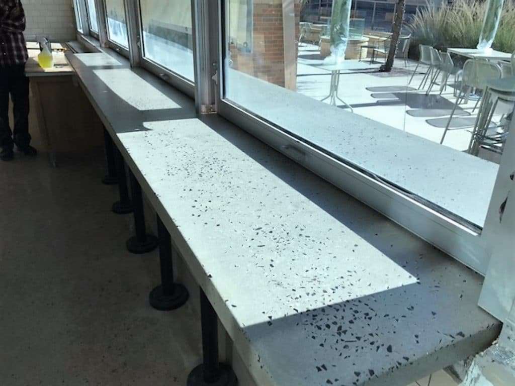 Concrete Countertop With Exposed Glass For Panera Bread Restaurant