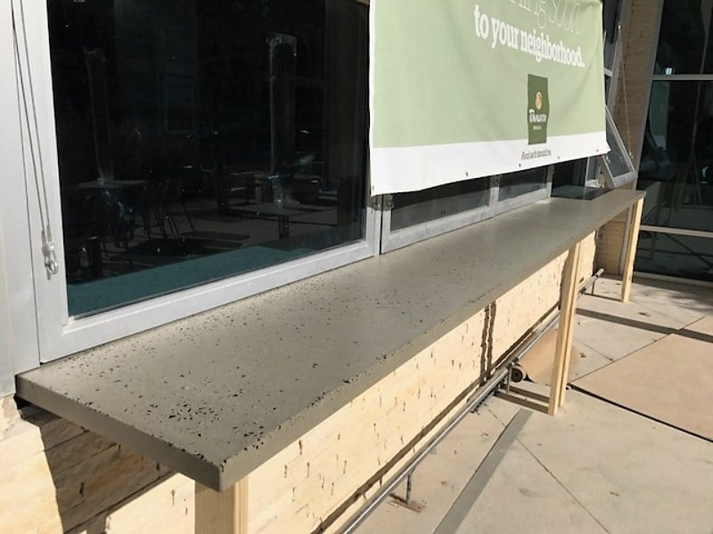 Concrete Bar Top made for Panera Bread on the University of Texas-Arlington campus.