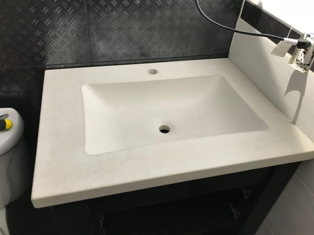 Beautiful Salt and Pepper White Concrete Vanity