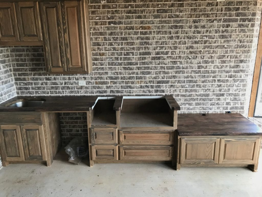 Custom Wood Look Concrete Countertops for Cashion Custom Homes