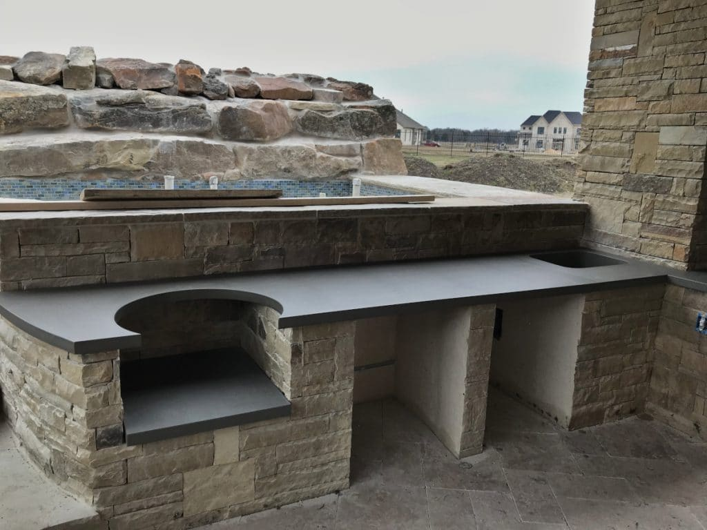 Large Wrap-Around Outdoor Kitchen done for Hauk Custom Pools