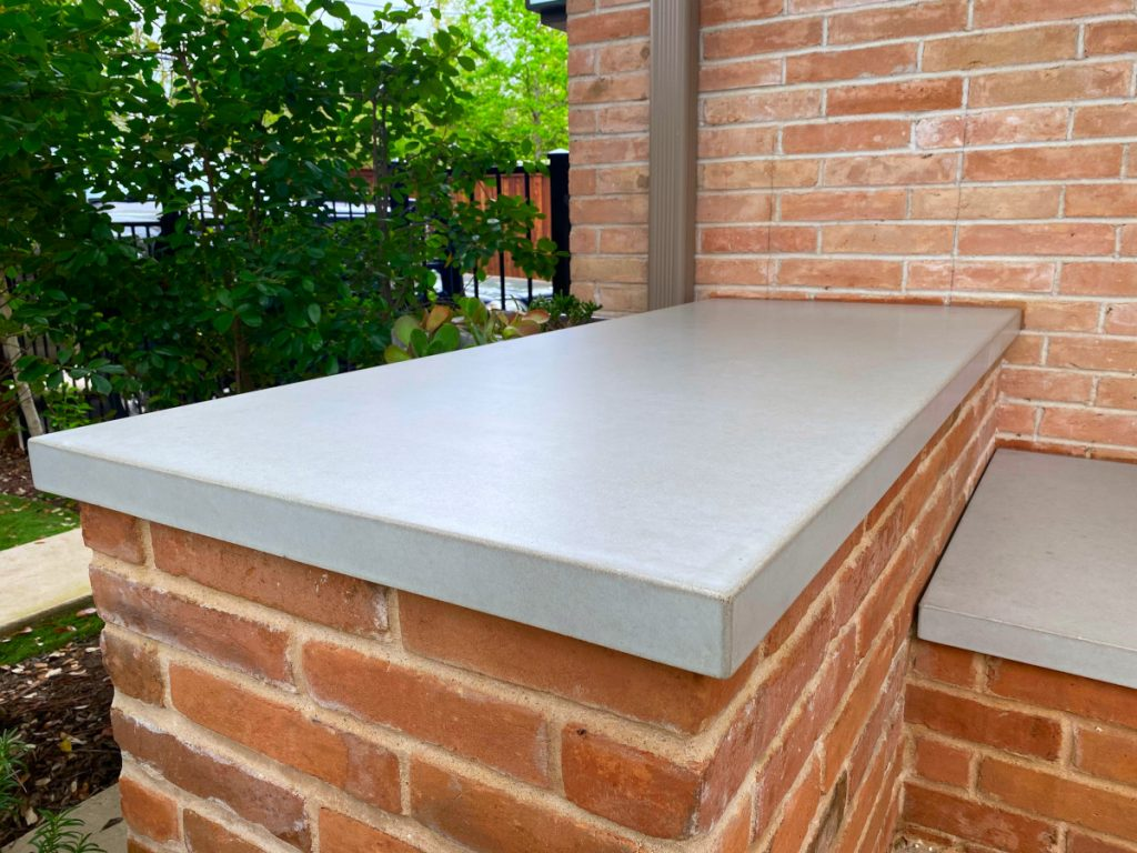 Close Up View Of the Concrete Countertop