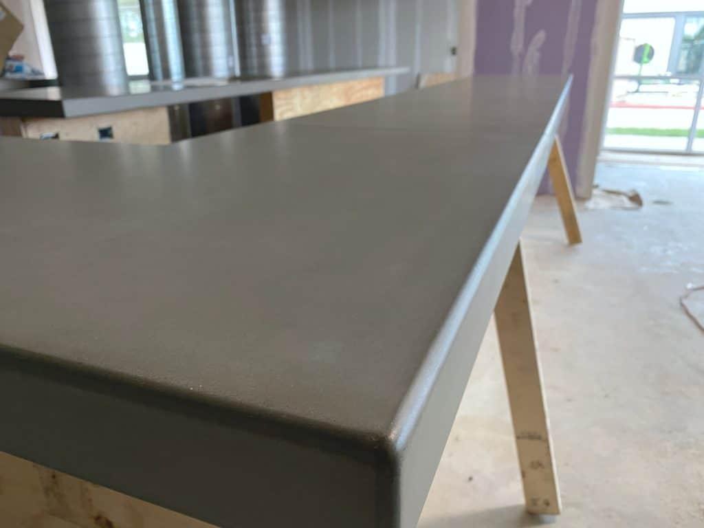 Close Up View Of Concrete Bar Top