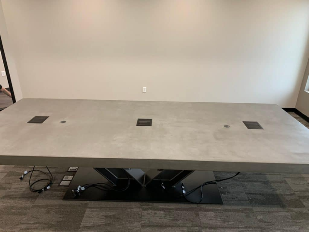 Large Grey Conference Table