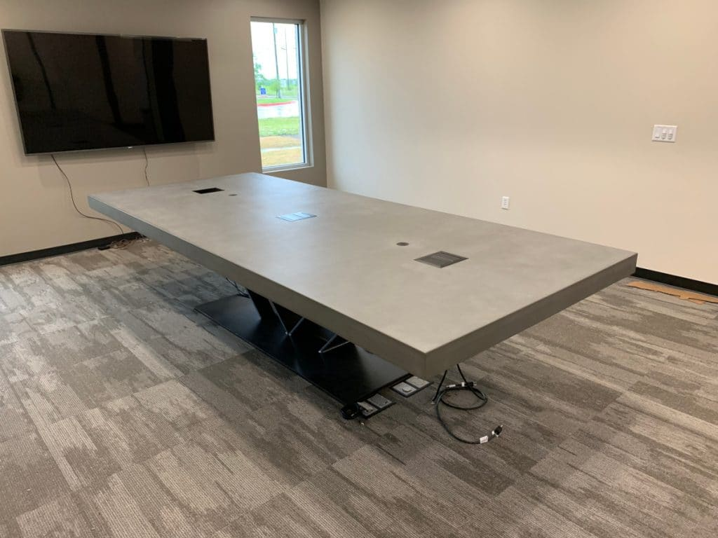 12 Foot by 5 Foot Concrete Conference Table