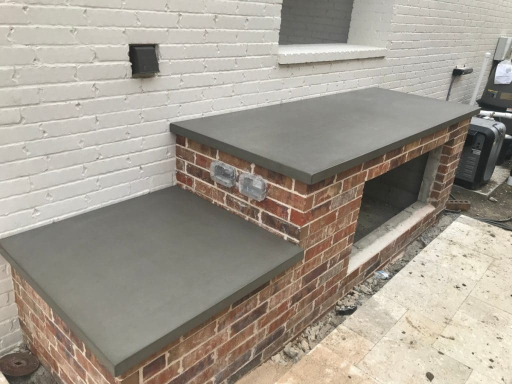 The other portion of the countertops for the Hauk outdoor kitchen
