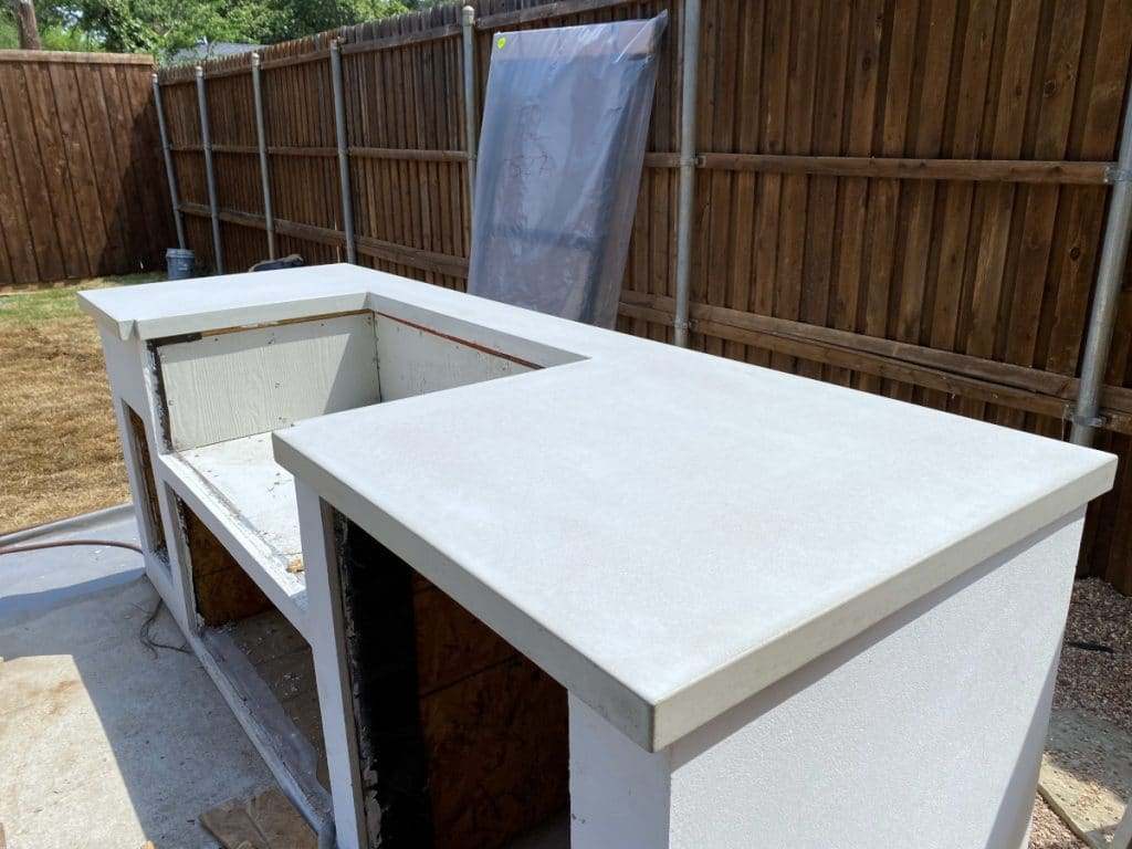 Custom Concrete Countertop for an Outdoor Grilling Station
