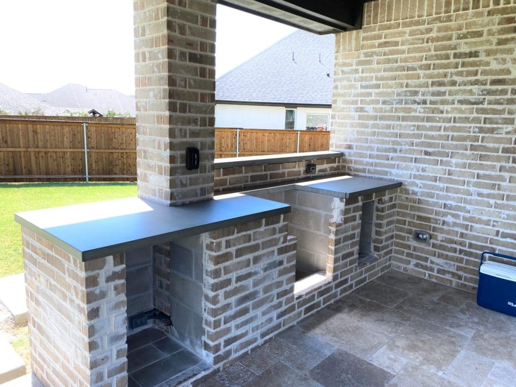 Concrete Countertops Installed for an Elite Outdoor Kitchen