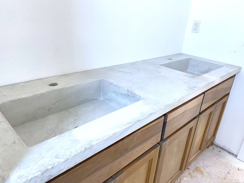 Marbled Concrete Double Sink Vanity
