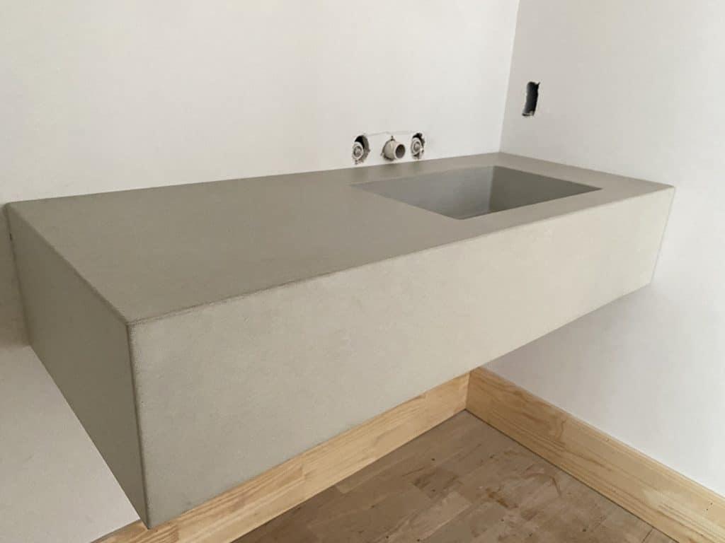 Custom Floating Concrete Vanity