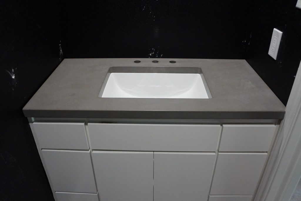 Powder room countertop