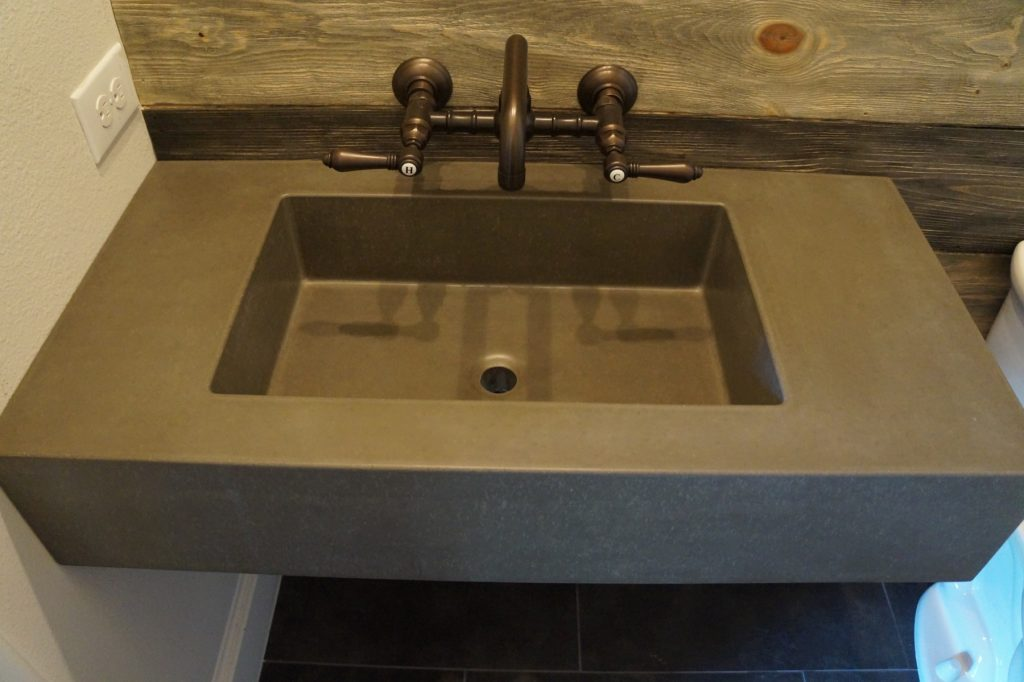 Floating Concrete Sink With Our 20 X12 Rectangular