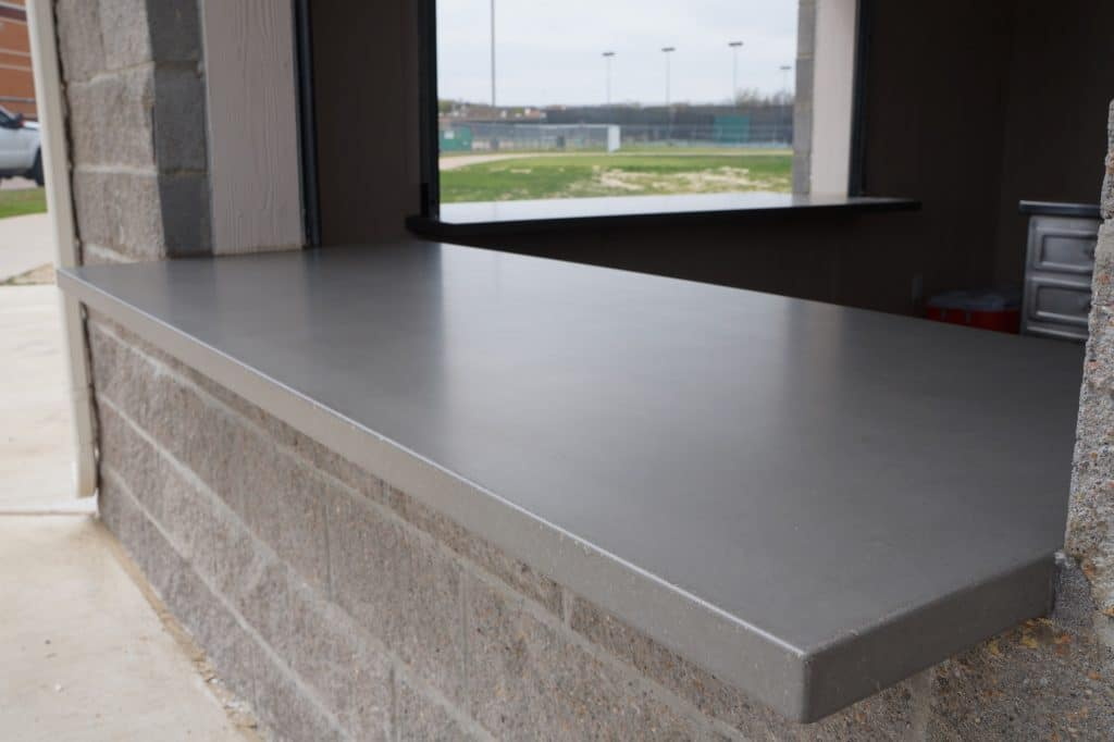 Concession Stand Concrete Countertops for the Birdville ISD in Haltom City and North Richland Hills
