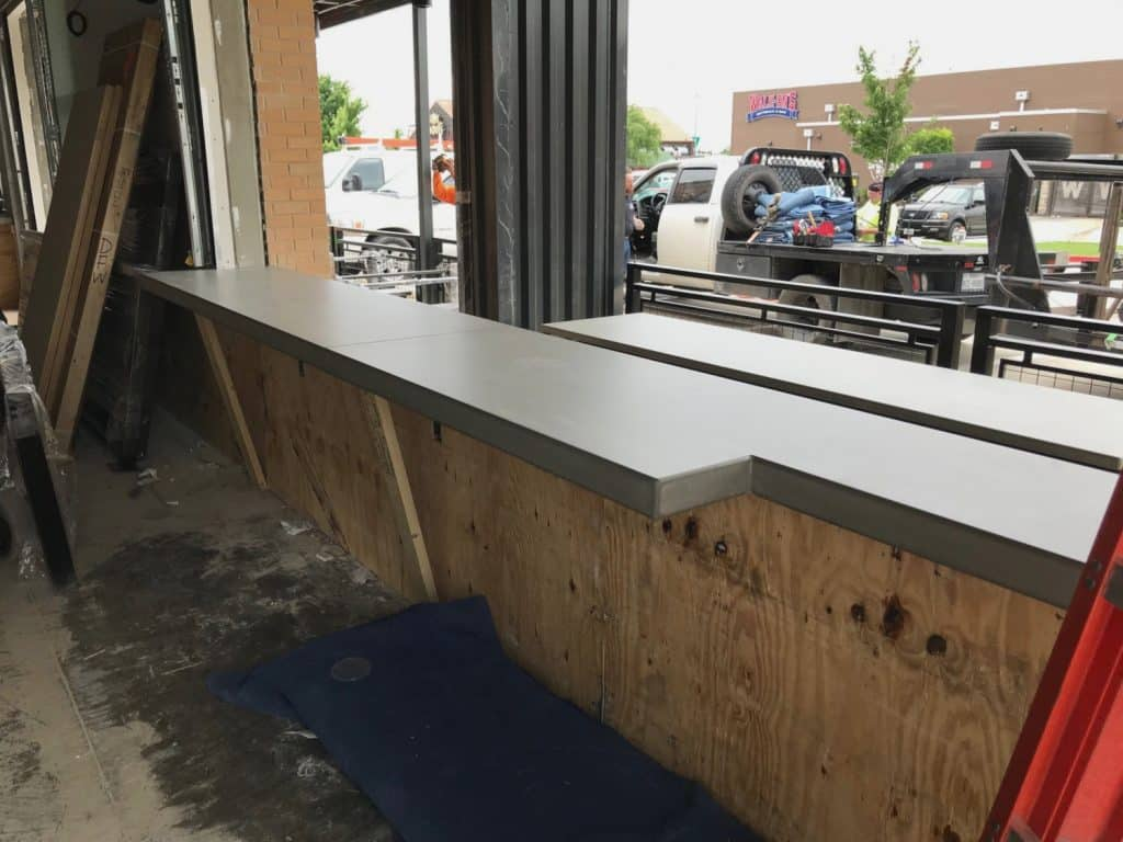 Concrete Bar For a Dog Haus Location in Dallas