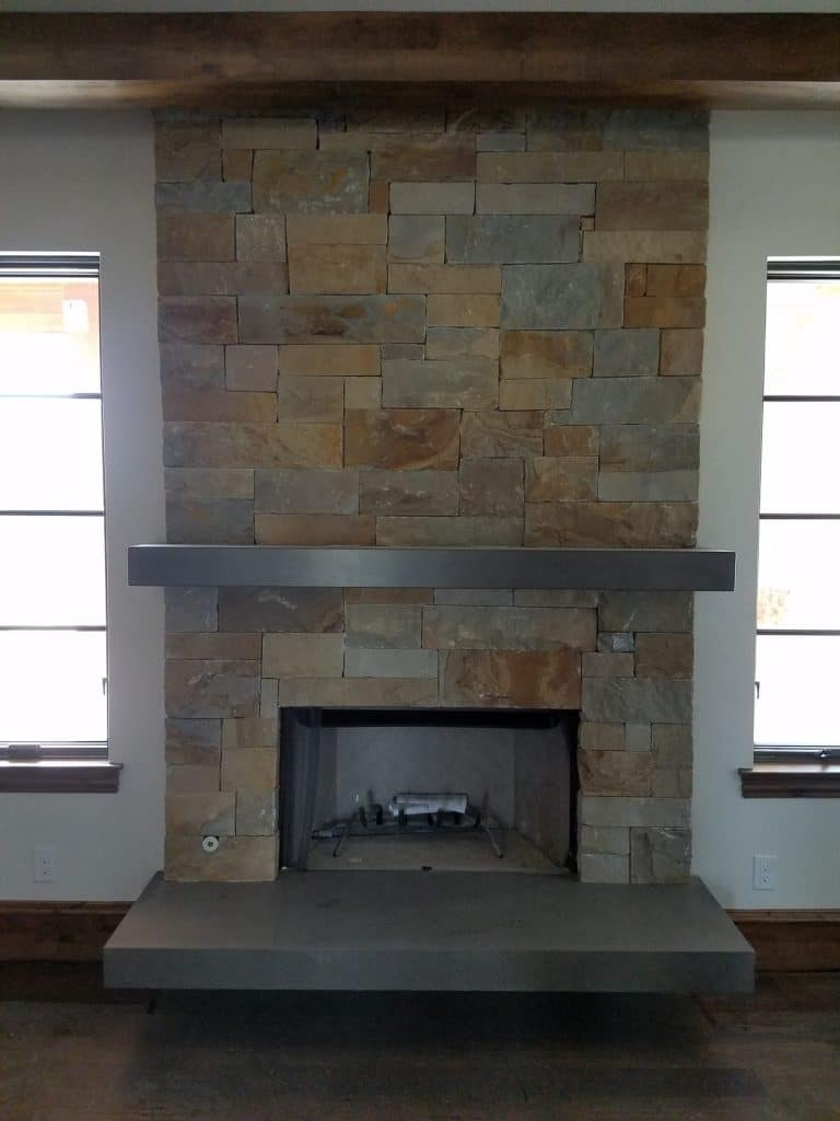 Floating Hearth and Mantle installed in Heath, Texas