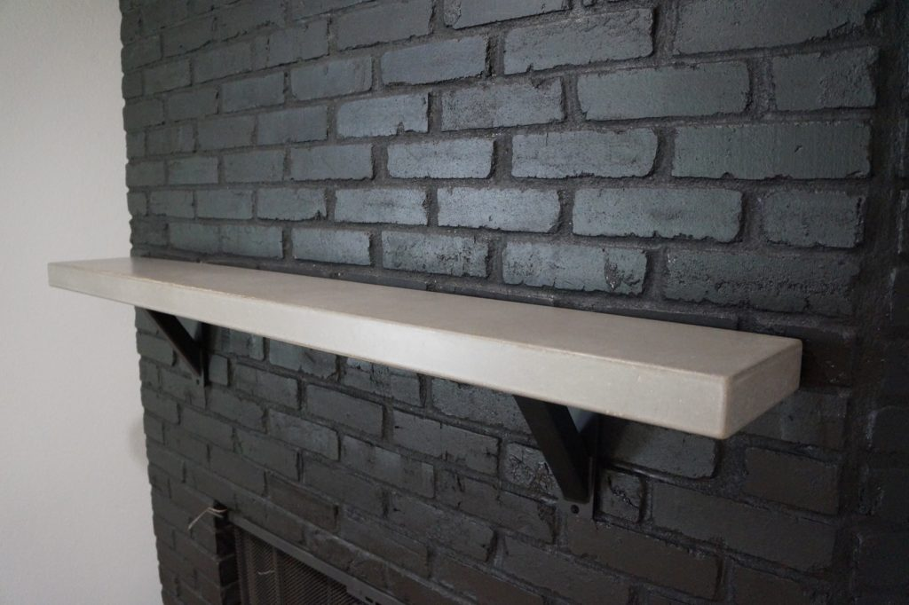 Light Gray, Concrete Mantle installed in Dallas, Texas