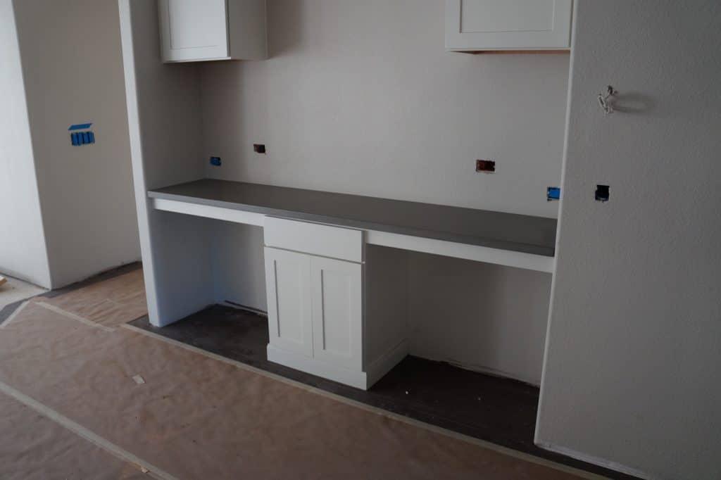 Grey concrete Desk