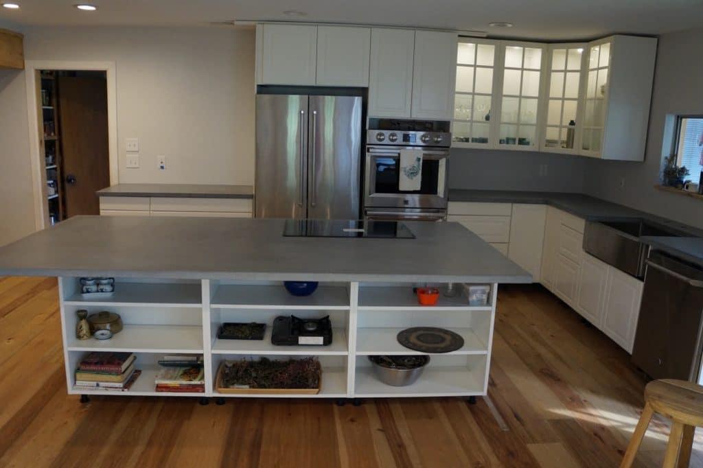 Gray Concrete Kitchen Countertops installed in Lucas, Texas