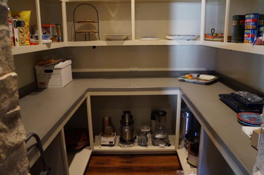 Concrete Countertops in the pantry. Installed in Ft. Worth, Texas for David Lewis Builders