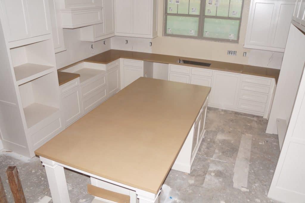 Concrete Kitchen Countertops Installed In Tioga, Texas