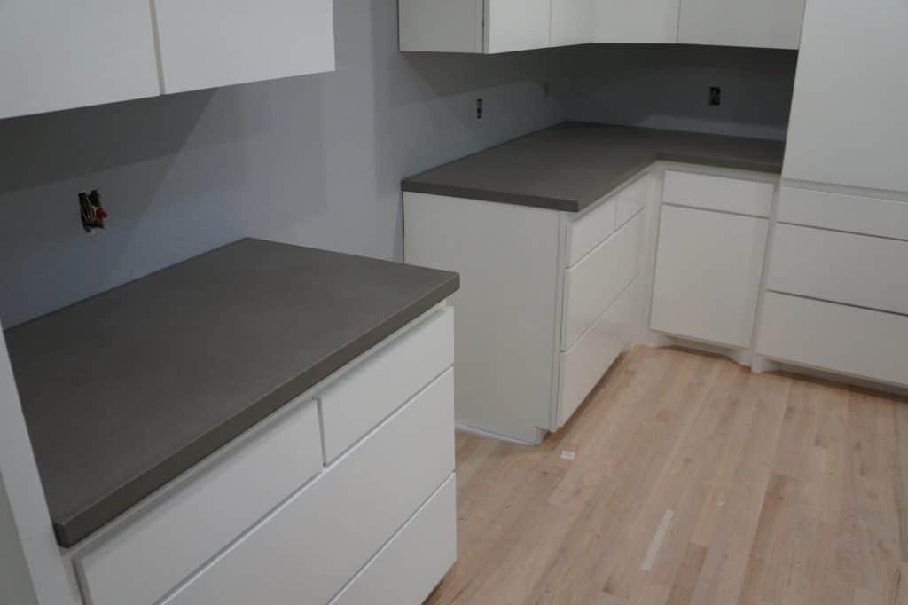 Gray Concrete Countertops Installed In Dallas, Texas