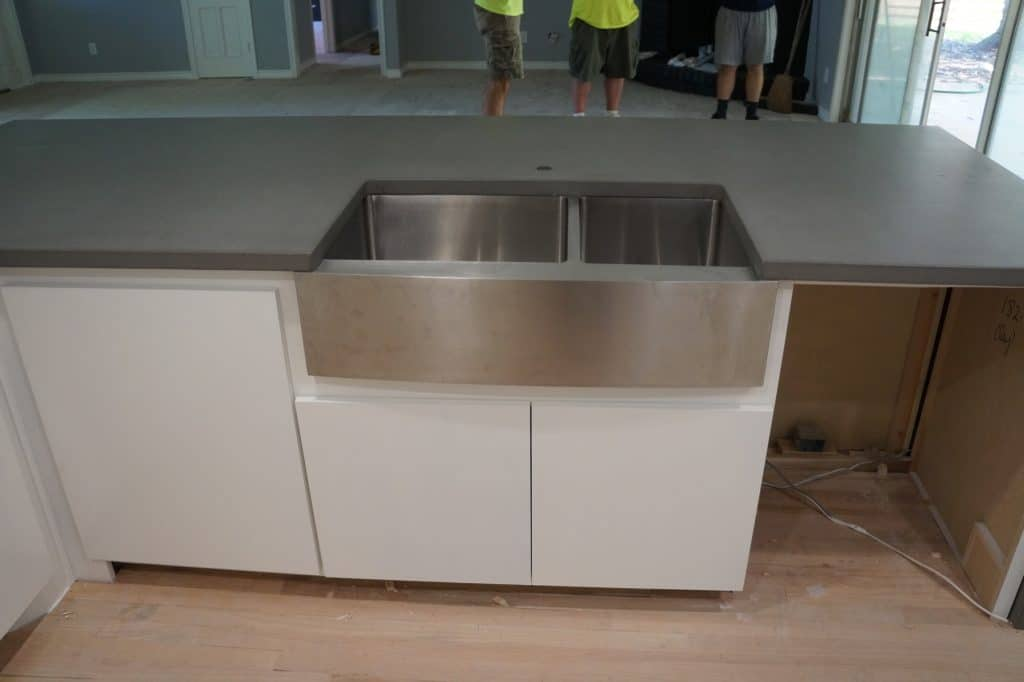 Check out those legs! Countertops look good too.