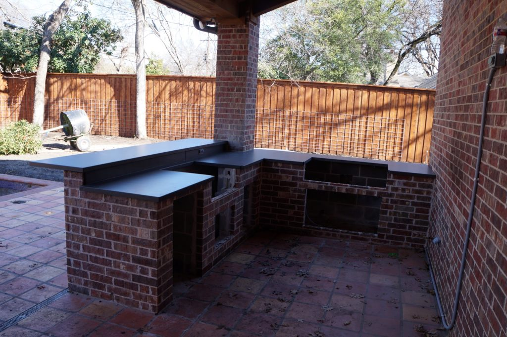 Concrete Outdoor Kitchen installed in Ft. Worth, Texas