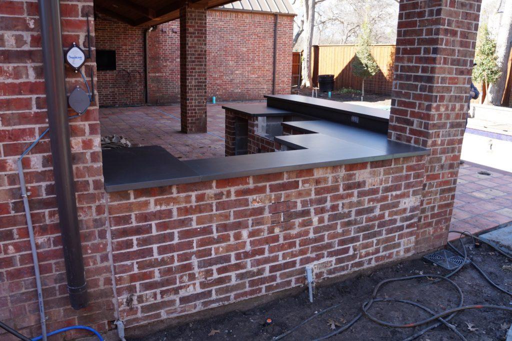 Concrete Outdoor Kitchen installed in Ft. Worth, Texas