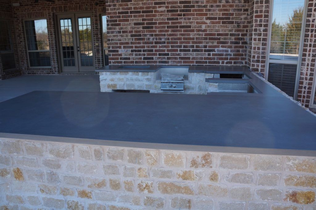 Large Concrete Outdoor Kitchen installed in Celina, Texas.