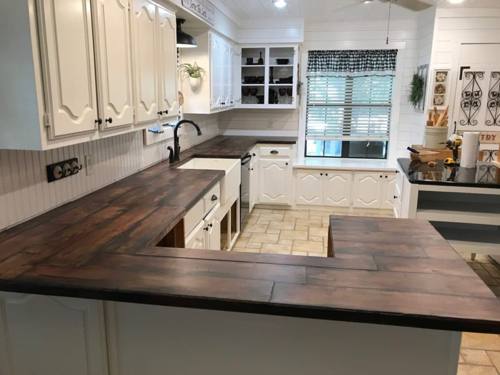 Our Signature Wood Look Concrete Countertops for a Remodeled Kitchen in Denton, Tx