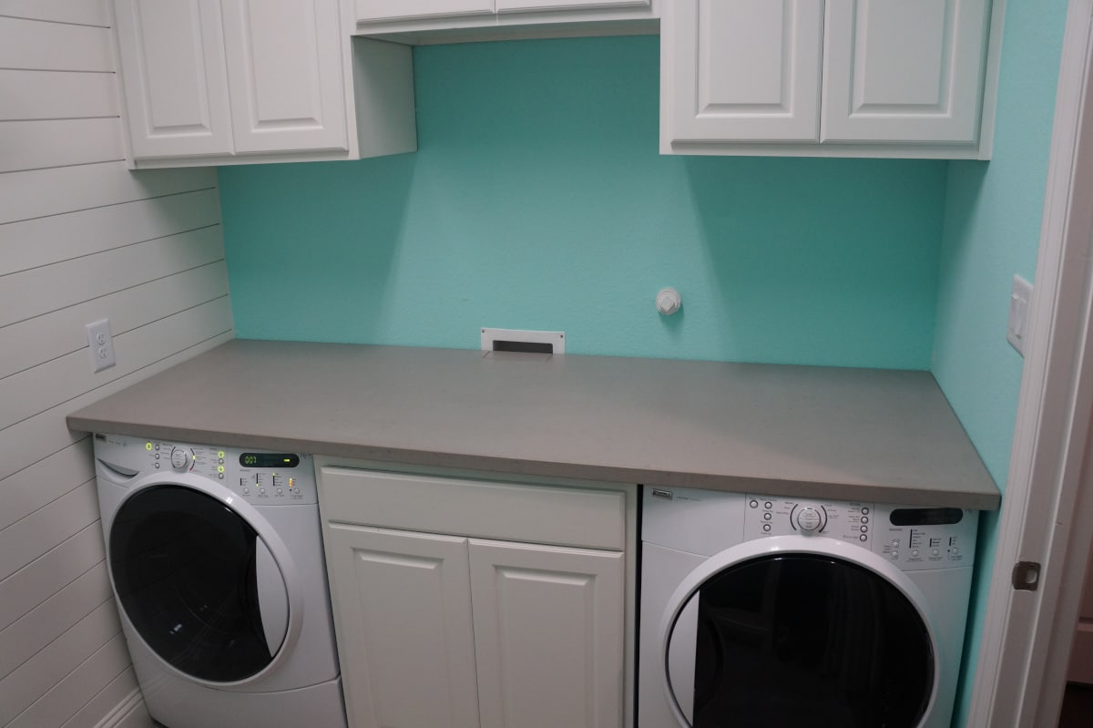 Concrete Countertop For a Laundry room