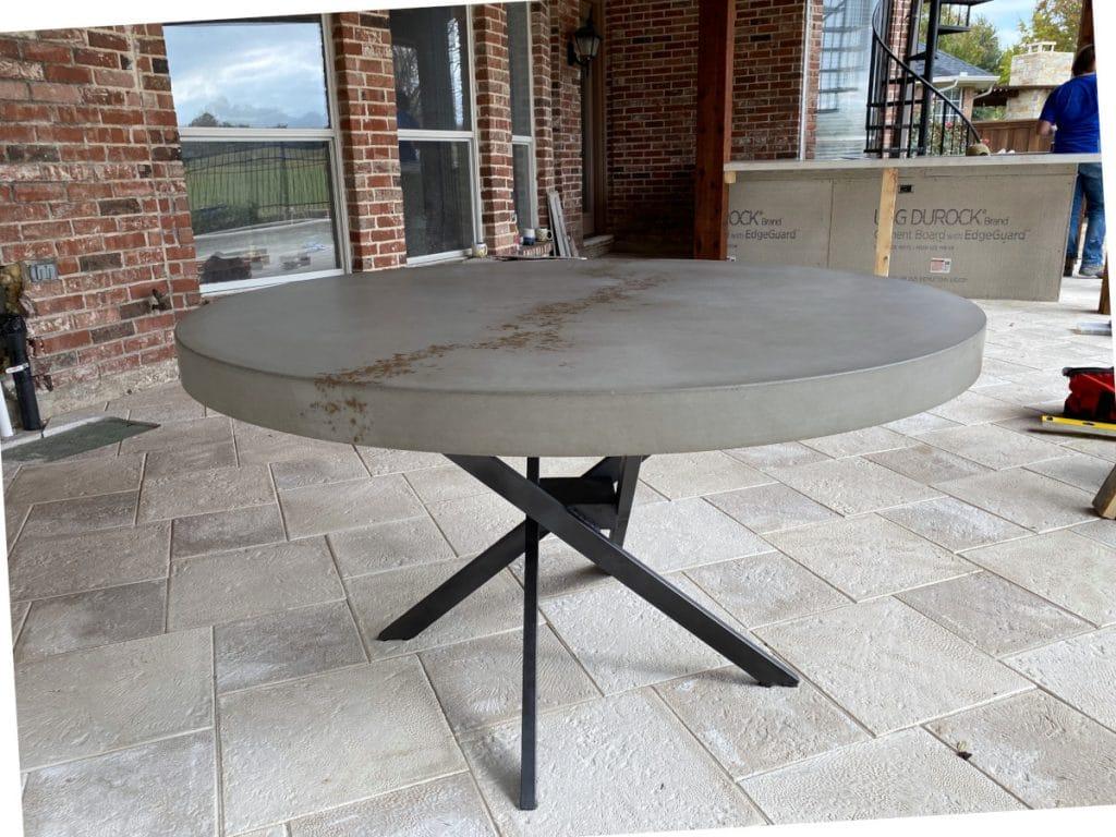 Concrete Circle table in Mckinney Tx