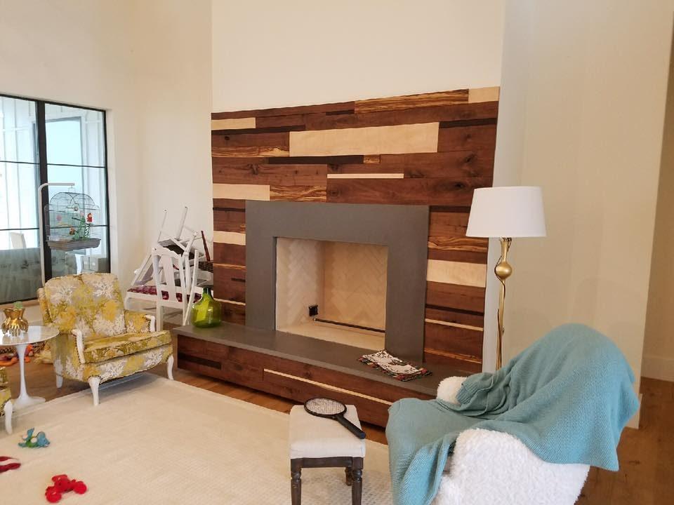 Custom Concrete Fireplace Fixtures
